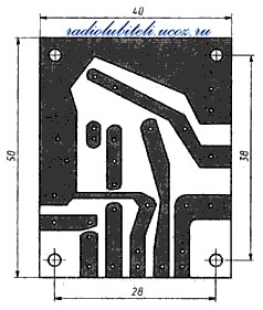 Рис.3. Печатная плата УМЗЧ на ИМС TDA2003